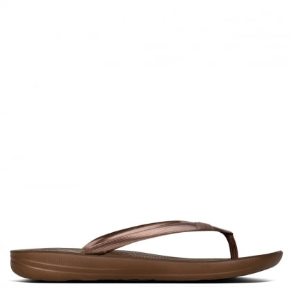1b441649b26 FitFlop Iqushion Bronze Toe Post Flip Flops