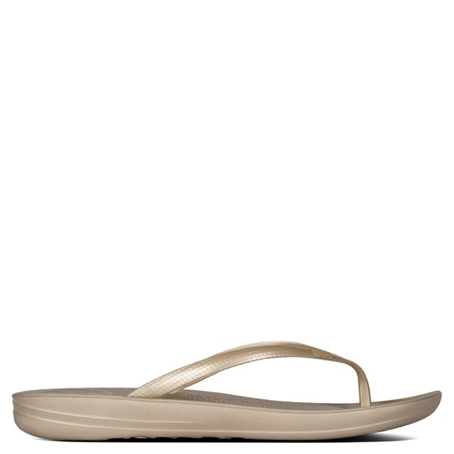 68ab83220dc7 FitFlop Iqushion Gold Toe Post Flip Flops