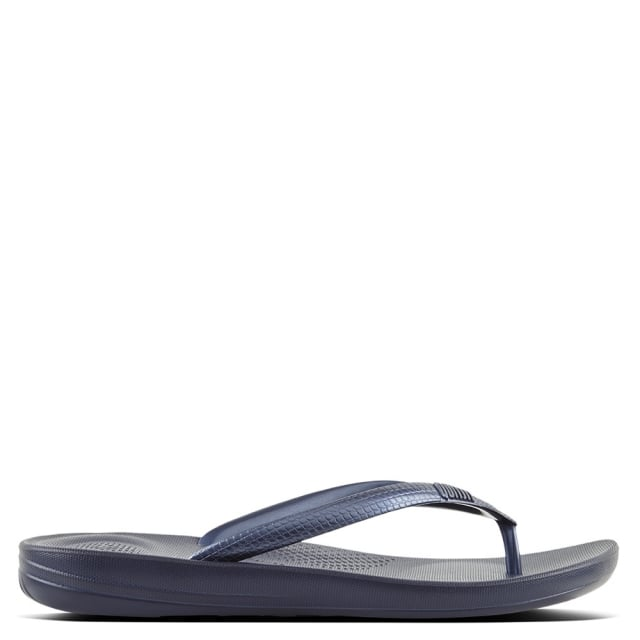 0be58490bc17 FitFlop Iqushion Midnight Navy Toe Post Flip Flop