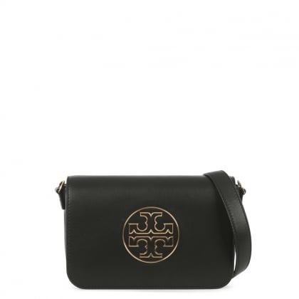 Isabella Black Leather Clutch Bag