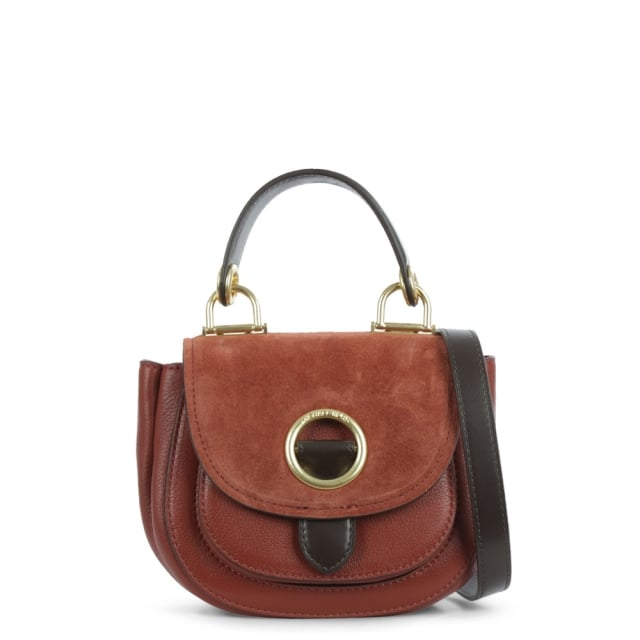 Isadore Small Brick Suede & Leather Messenger Bag