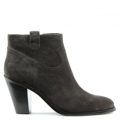 Ivana Grey Suede Cowboy Ankle Boot