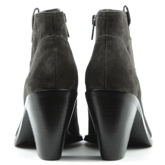 9d2b38e15d9 Ivana Grey Suede Cowboy Ankle Boot