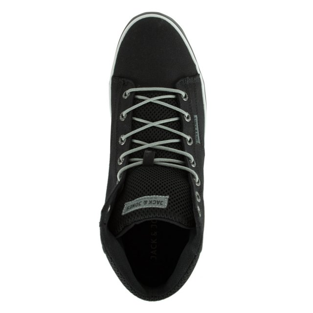 Jack Jones JJ Cardiff Mesh High Top Men s Black Trainer a02655efd8