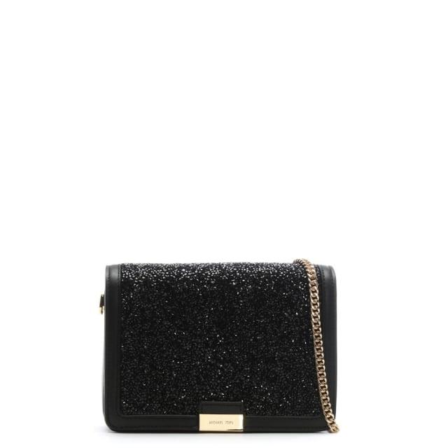 2717034e415ff Michael Kors Jade Black Leather Embellished Clutch Bag
