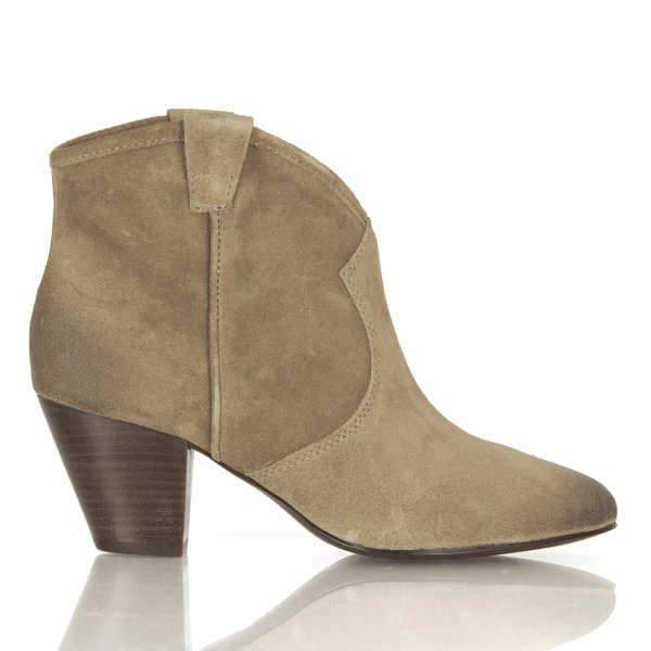 Ash Jalouse Taupe Suede Womens Ankle Boot