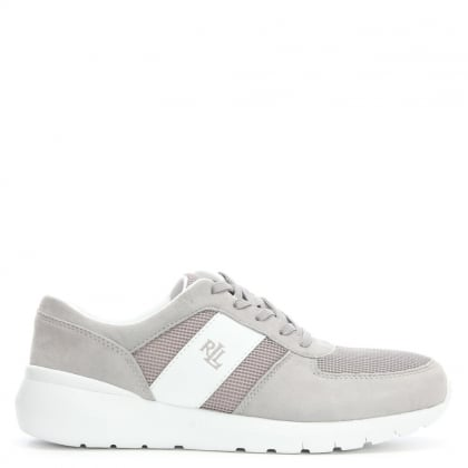 Jay Grey Suede Sporty Lace Up Trainers