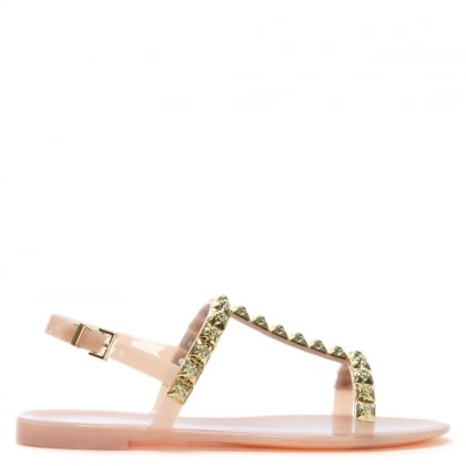 Jelrose Ballet Tan Jelly Sandals