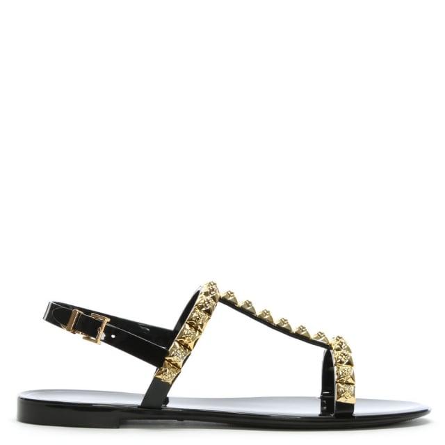 54531ff151d7 Stuart Weitzman Jelrose Black Jelly Sandals