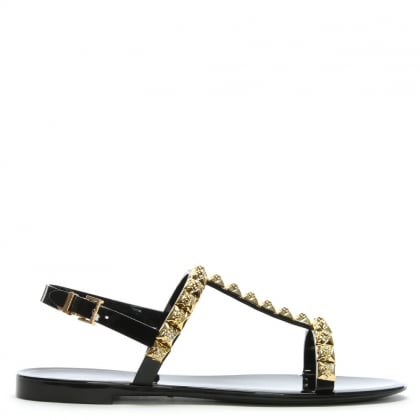 Jelrose Black Jelly Sandals