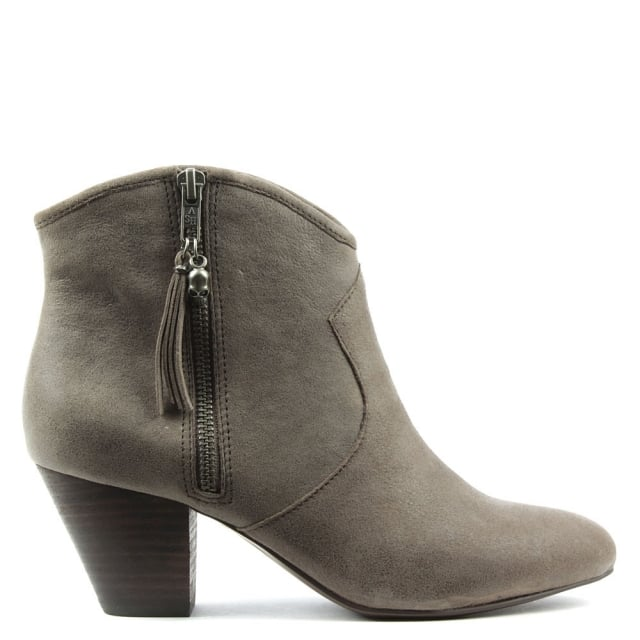 Jess Taupe Suede Ankle Boots