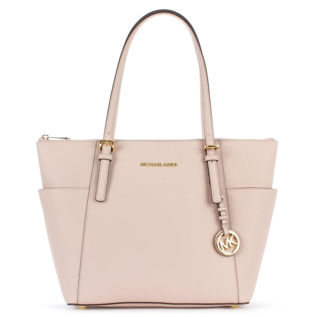 32dd3bc0fae2c Michael Kors Jet Set Pocket Pink Leather Tote Bag