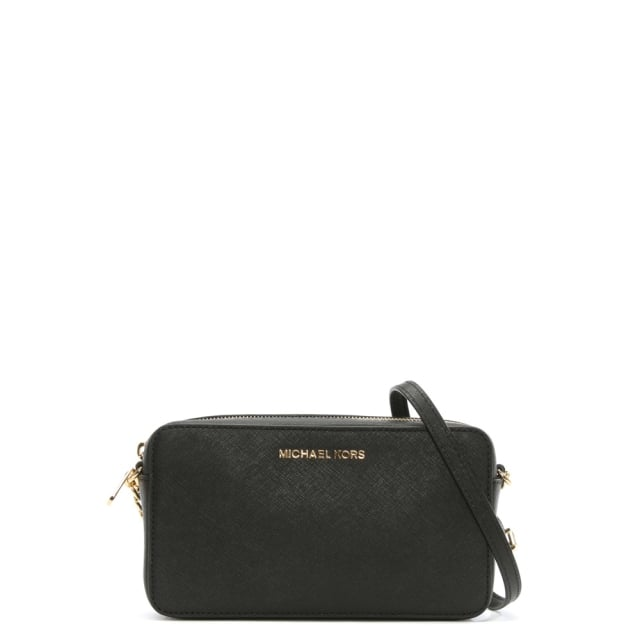 Jet Set Travel Black Saffiano Leather Cross-Body Bag