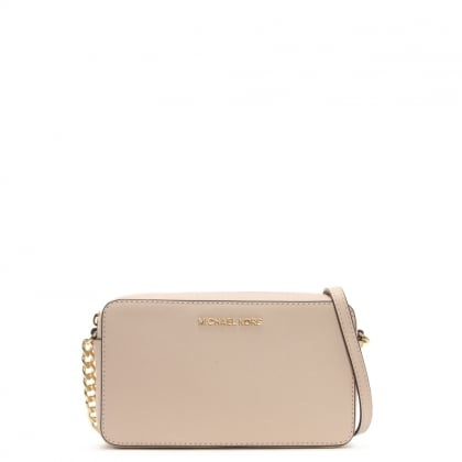 Jet Set Travel Soft Pink Saffiano Leather Cross-Body Bag