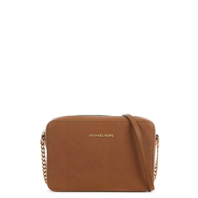 Jetset Travel Large Tan Leather EW Cross-Body Bag