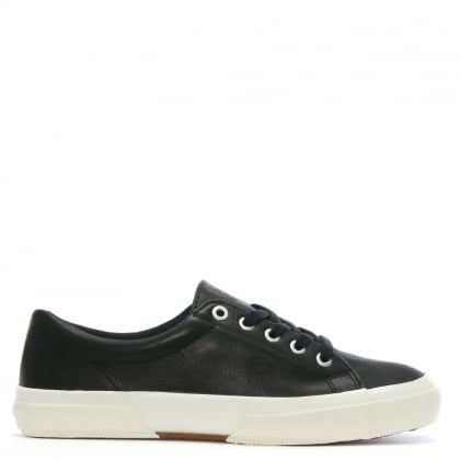 Jolie Black Leather Lace Up Sneakers