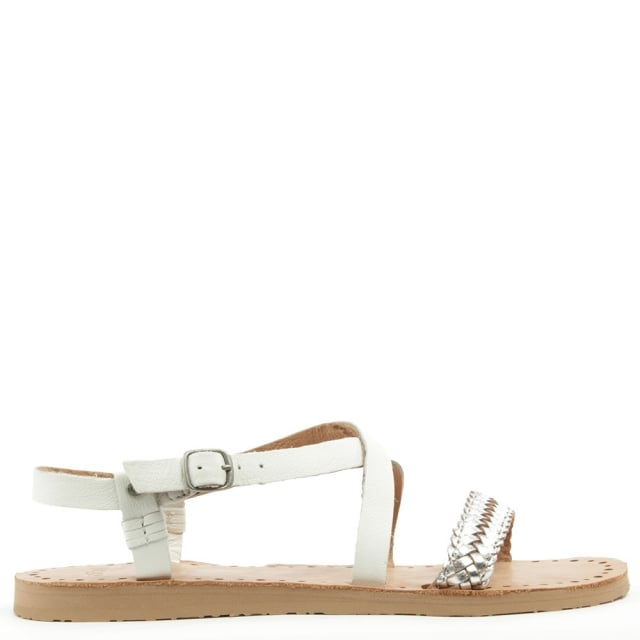 Jordyne White Wall Strappy Sandal