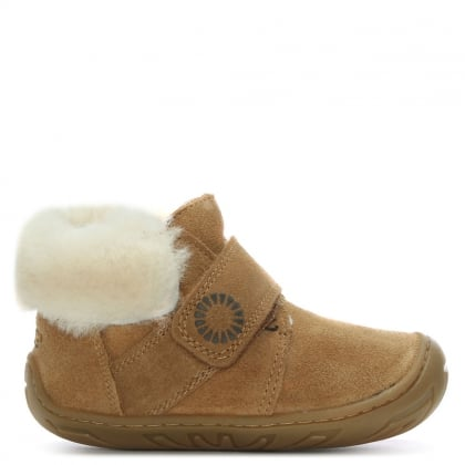 Jorgen Chestnut Sheepskin Booties