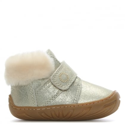 Jorgen Gold Metallic Sheepskin Booties