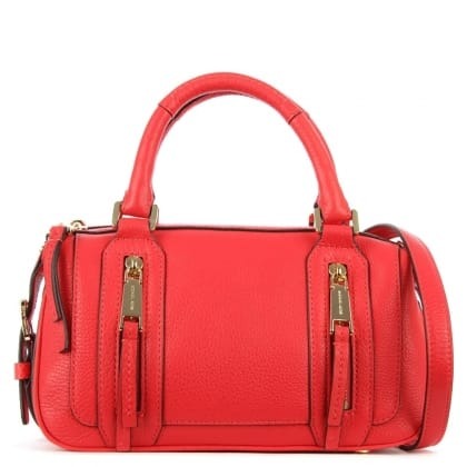 Julia Small Coral Reef Leather Satchel