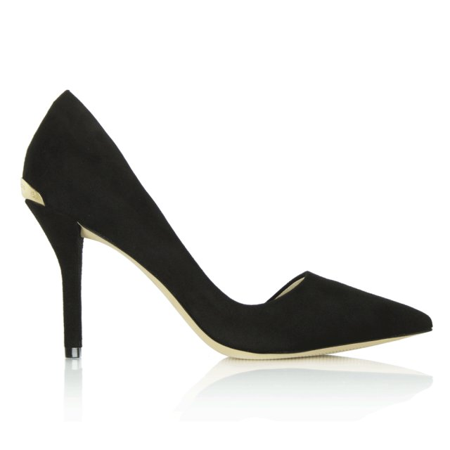 c80c567f2dbe Michael Kors Black Suede Julieta Pump Court Shoe