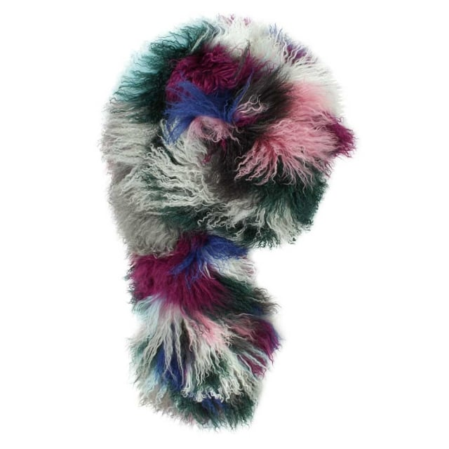 Kaleidoscope Multicoloured Mongolian Lambswool Cuff
