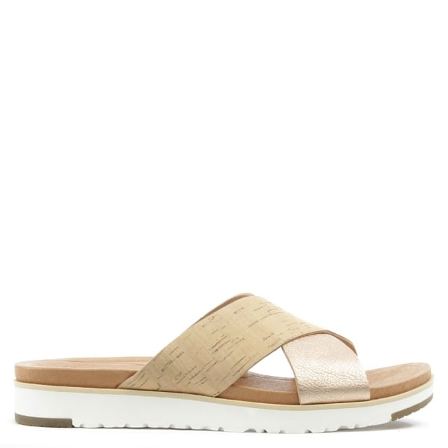 Kari Cork & Rose Gold Criss Cross Sandal