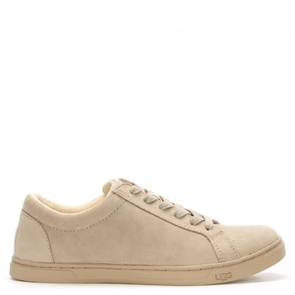 Karine Horchata Snake Embossed Lace Up Trainer