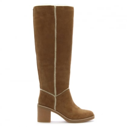 Kasen Tall Chestnut Suede Knee Boots
