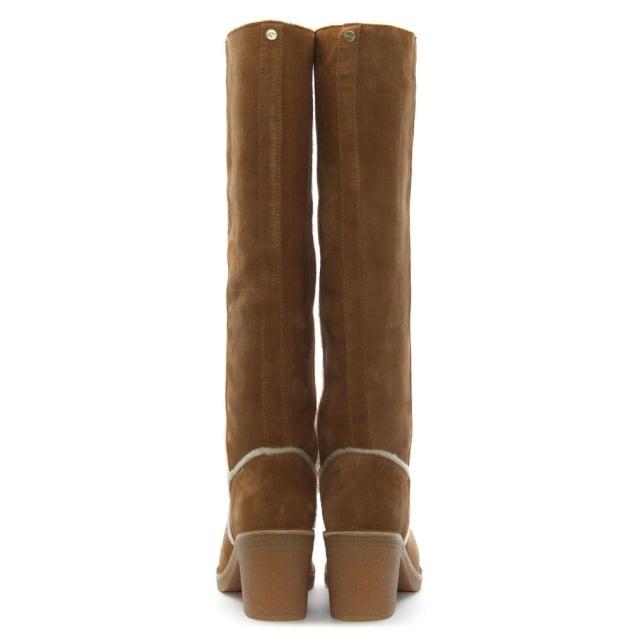 7fa19337d0d Kasen Tall Chestnut Suede Knee Boots