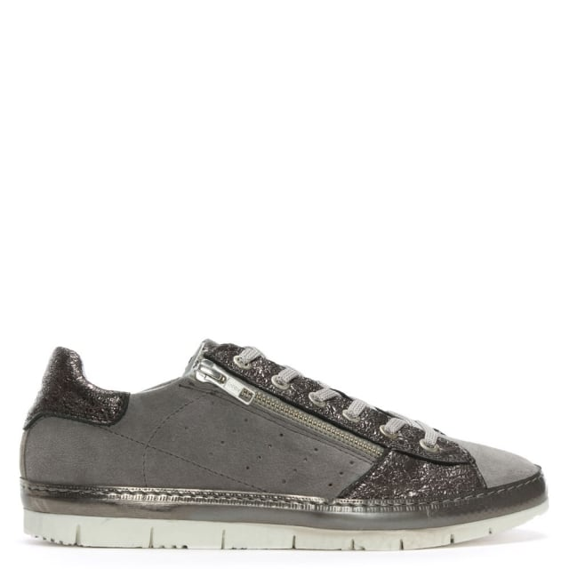 Kates Grey Suede Two Tone Trainers