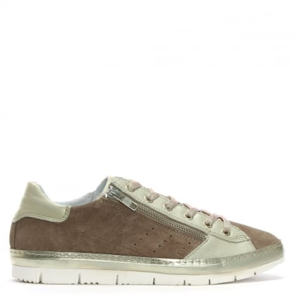 Kates Taupe Suede Two Tone Trainers