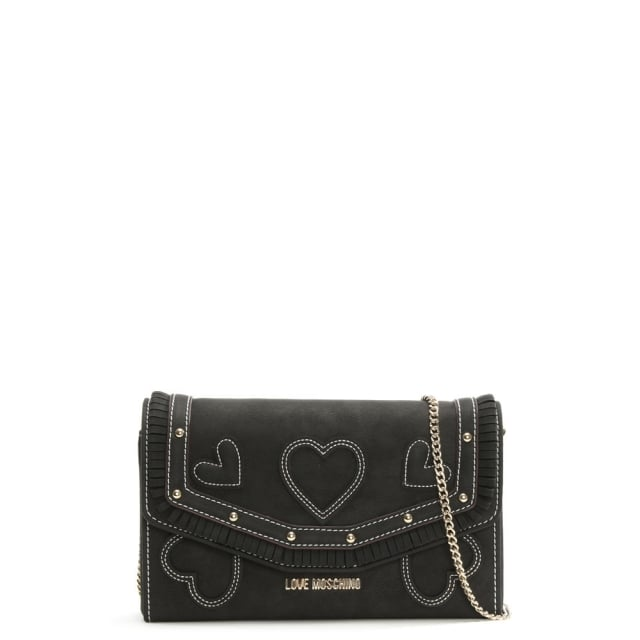 Katie Black Heart Cross-Body Bag