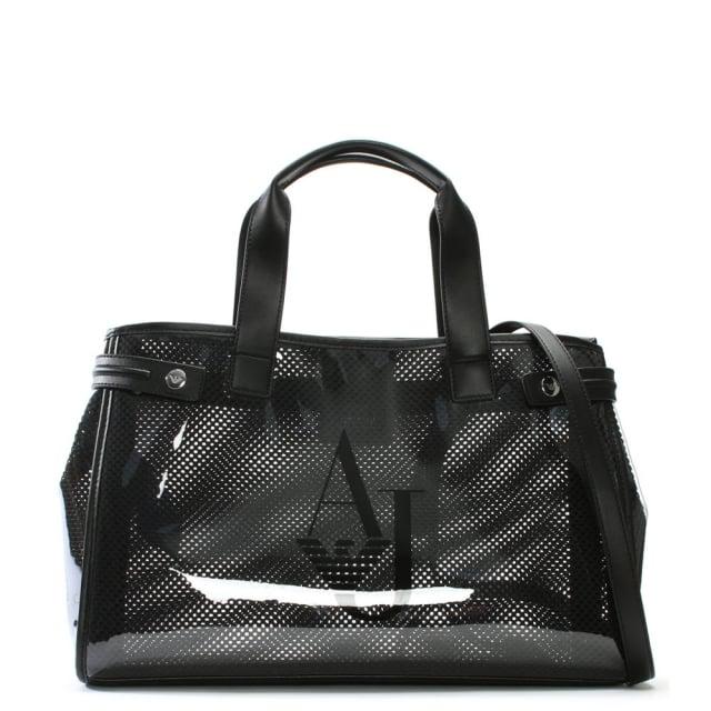 016d055459 Armani Jeans Kelis Black See Through Beach Bag