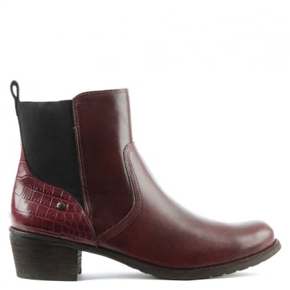 Keller Croco Cordovan Leather Chelsea Boot