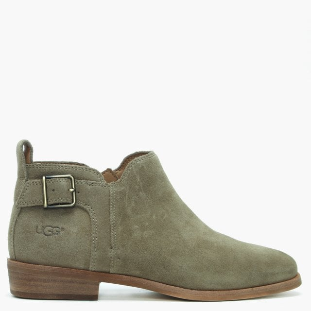 a0c44dc300f Kelsea Antilope Suede Buckled Ankle Boots