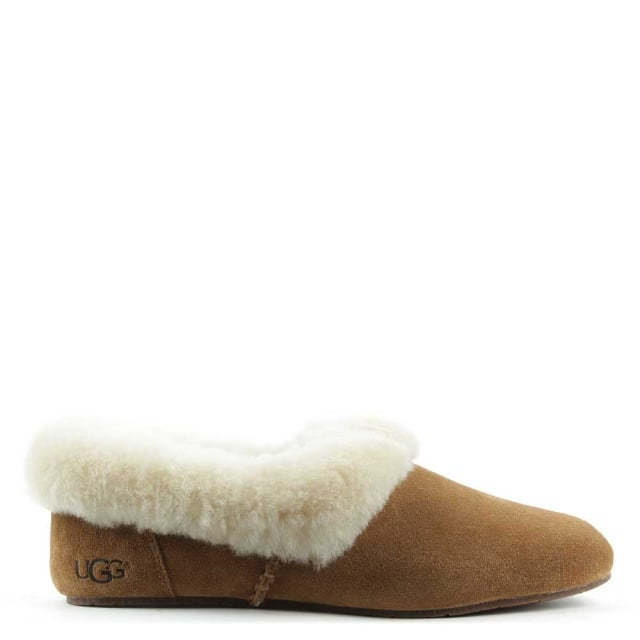 Kendyl Chesnut Suede Sheepskin Slipper