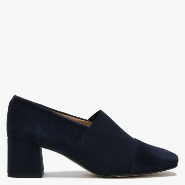 navy suede shoes heels