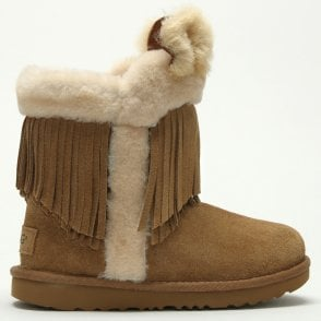 addfe885d35e UGG Kid's Darlala II Chestnut Twinface Classic Ankle Boots