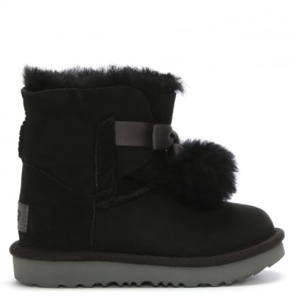 Kid's Gita Black Twinface Ankle Boots