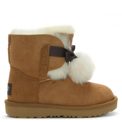 Kid's Gita Chesnut Twinface Ankle Boots