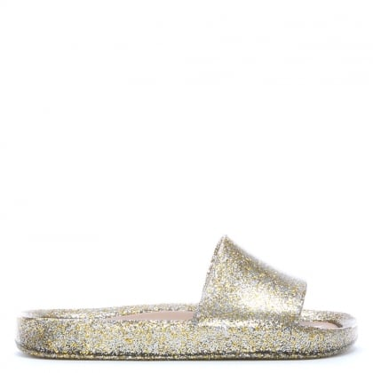 Kid's Gold Glitter Sliders