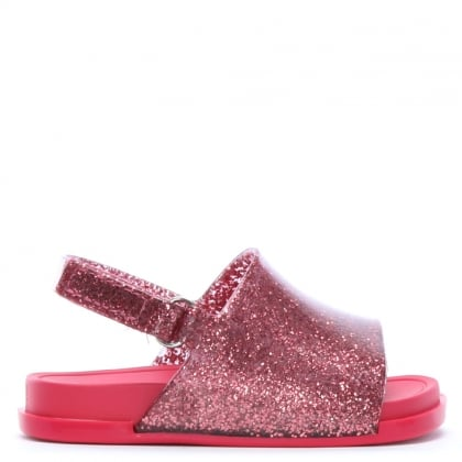 Kid's Mini Pink Glitter Sliders
