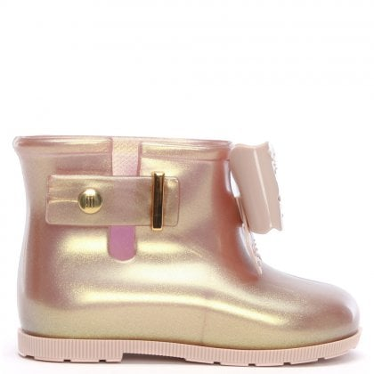 864009337921 Kid s Mini Sugar Fairy Rose Gold Rain Boots