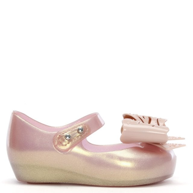 fd3d39de2ee Melissa Kid s Mini Ultragirl Fairy Bow Rose Gold Pumps