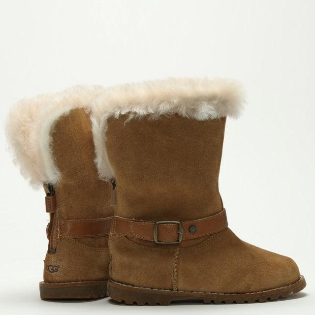 f1a588e6867 Kid's Nessa Chestnut Suede Calf Boots