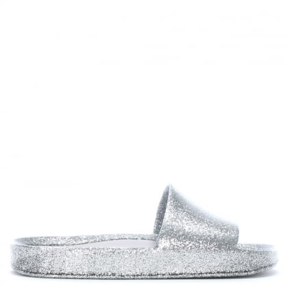 Kid's Silver Glitter Sliders