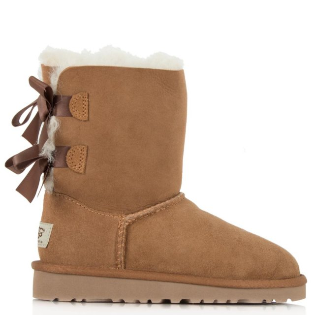 Kids Bailey Bow Chestnut Twinface Boot