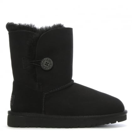 Kids Bailey Button Black Twinface Boot