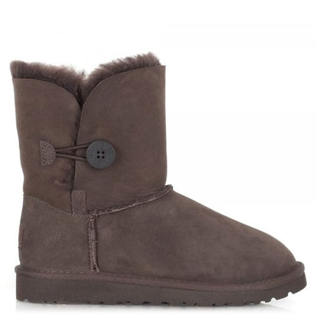 Kids Bailey Button Chocolate Flat Calf Boot